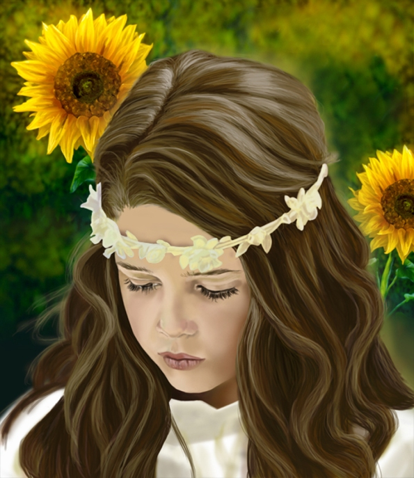 Girl and Sunflowers_NEW